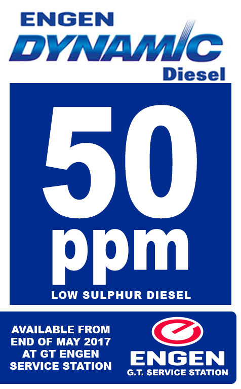 50ppm Engen Dynamic Diesel Available End of May 2017
