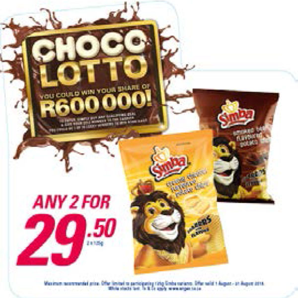 Choco Lotto Promotion - Simba Chips