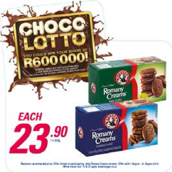 Choco Lotto Promotion - Romany Creams