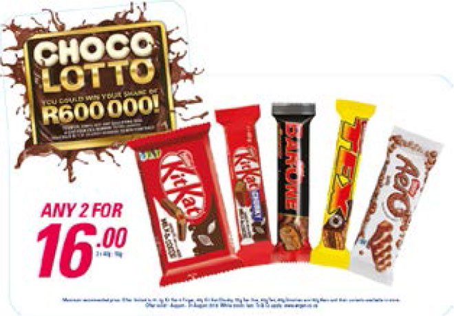 Choco Lotto Promotion - Chocolates