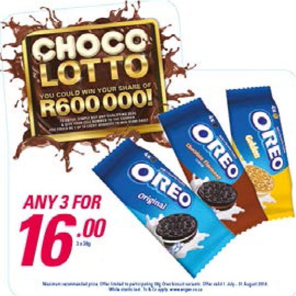Choco Lotto Promotion - Oreo Biscuits