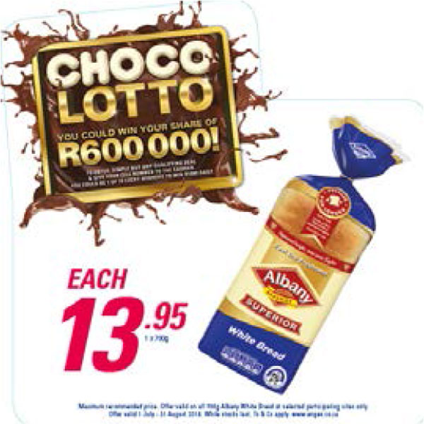 Choco Lotto Promotion - Albany White Bread