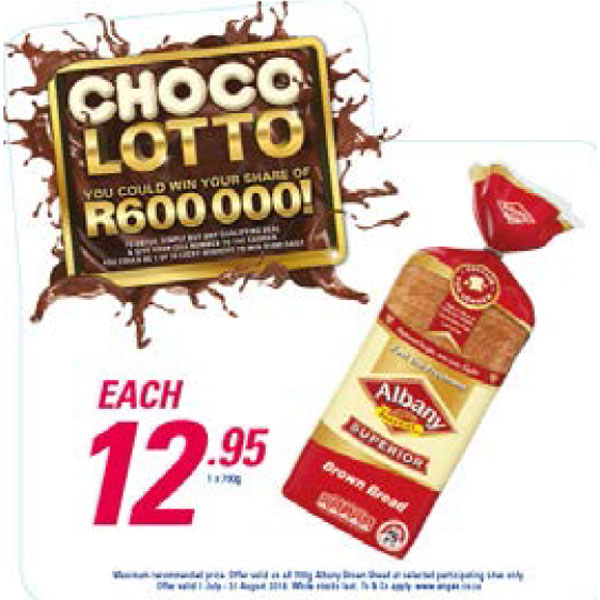 Choco Lotto Promotion - Albany Brown Bread
