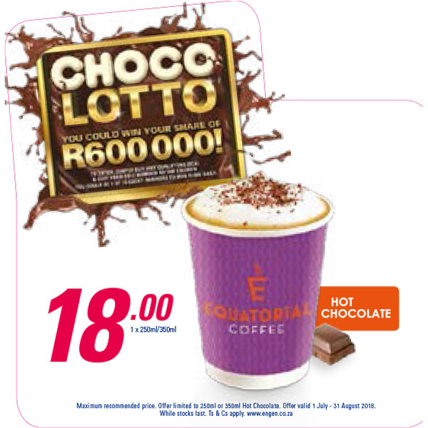 Choco Lotto Promotion - Equatorial Coffee