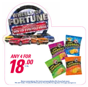Wheel Of Fortune Promotion - Mini Chedders